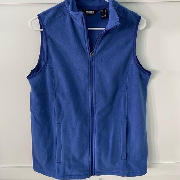 Lands' End Women's Fleece Vest - small